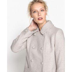 Płaszcze damskie pastelowe: Płaszcz dwurzędowy, na guziki