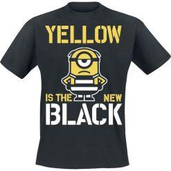 Minions Yellow Is The New Black T-Shirt czarny. Czarne t-shirty męskie z nadrukiem Minions, s, z okrągłym kołnierzem. Za 74,90 zł.