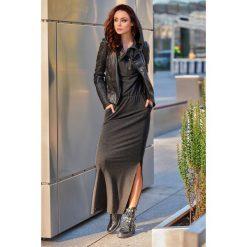 Dresowa sukienka maxi z kapturem grafit. Czarne długie sukienki marki Sinsay, l, z kapturem. Za 159,90 zł.