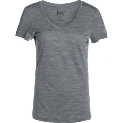 Topy sportowe damskie: super.natural BASE VNECK TEE Tshirt basic quiet shade melange