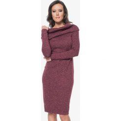Sukienki hiszpanki: Sukienka w kolorze bordowym