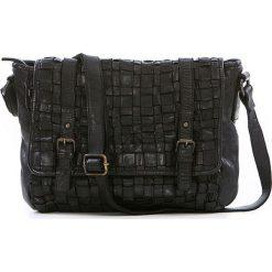 Torebki klasyczne damskie: Skórzana torebka w kolorze czarnym – 27 x 23 x 11 cm
