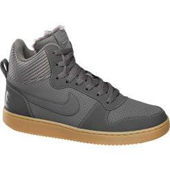 Buty męskie Nike Court Borough Winter NIKE popielate. Czarne buty sportowe męskie marki Nike, z materiału, nike tanjun. Za 195,00 zł.