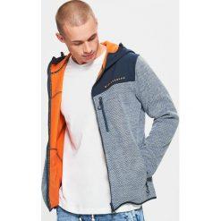 Bluza polarowa - Granatowy. Czarne bluzy męskie marki Cropp, l, z polaru, z kapturem. Za 159,99 zł.