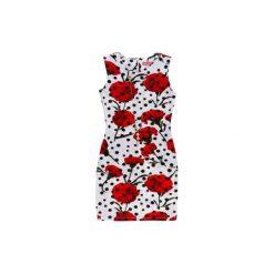 Sukienki balowe: Sukienka damska klasyczna w kwiaty, w groszki