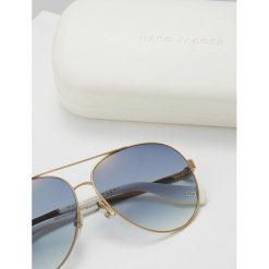 Marc Jacobs Okulary przeciwsłoneczne goldcoloured/white. Żółte okulary przeciwsłoneczne damskie lenonki Marc Jacobs. Za 569,00 zł.