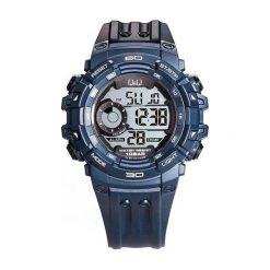 Biżuteria i zegarki męskie: Zegarek Q&Q Męski M156-003 Dual Time czarny