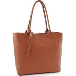 Torebki klasyczne damskie: Skórzana torebka w kolorze brązowym – (S)40 x (W)30 x (G)13 cm