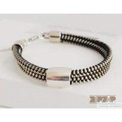 Bransoletki damskie: ZIPZAP bransoletka DOUBLE silver