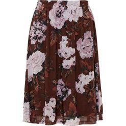 Spódniczki rozkloszowane: Spódnica w kolorze brązowo-jasnoróżowym