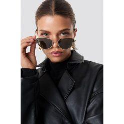 NA-KD Accessories Okulary przeciwsłoneczne Cat Eye - Green. Zielone okulary przeciwsłoneczne damskie lenonki marki NA-KD Accessories. Za 60,95 zł.