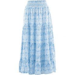 Długa spódnica, kolekcja Maite Kelly bonprix biało-błękitny. Niebieskie długie spódnice bonprix, z nadrukiem. Za 89,99 zł.