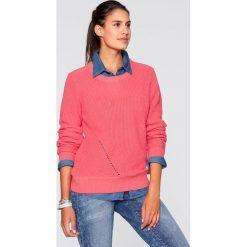 Swetry klasyczne damskie: Sweter z długim rękawem bonprix brązowo-złoty