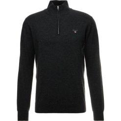 GANT ZIP Sweter dark charcoal melange. Szare swetry klasyczne męskie GANT, m, z bawełny. Za 549,00 zł.