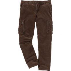 Spodnie sztruksowe bojówki Regular Fit bonprix brązowy. Brązowe bojówki męskie bonprix, ze sztruksu. Za 124,99 zł.