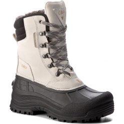 Śniegowce CMP - Kinos Wmn Snow Boots Wp 3Q48866 Rock A121. Białe buty zimowe damskie CMP, z materiału. W wyprzedaży za 259,00 zł.