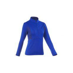 Koszulka turystyczna długi rękaw SH500 Active Warm damska. Niebieskie t-shirty damskie marki QUECHUA, l. W wyprzedaży za 49,99 zł.