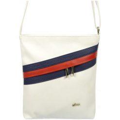 Grosso Bag Torebka Damska Biały. Białe torebki klasyczne damskie Grosso Bag, w paski. Za 135,00 zł.