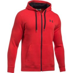 Bluzy męskie: Under Armour Bluza męska Rival Fleece Fitted Full Zip Hoodie czerwona r. M (1302290-600)