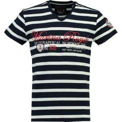 """T-shirty męskie z nadrukiem: Koszulka """"Jura"""" w kolorze granatowo-kremowym"""