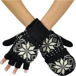 Rękawiczki męskie: Art of Polo Rękawiczki unisex łapki z gwiazdką czarne r. uniwersalny