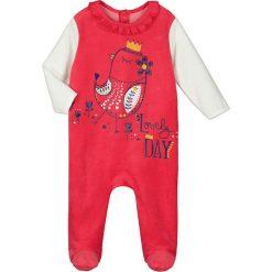 Śpiochy niemowlęce: Śpioszki w kolorze czerwono-białym