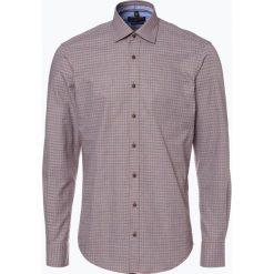 Nils Sundström - Koszula męska, pomarańczowy. Brązowe koszule męskie na spinki marki FORCLAZ, m, z materiału, z długim rękawem. Za 89,95 zł.