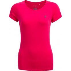 T-shirt damski TSD600 - różowy - Outhorn. Czerwone t-shirty damskie Outhorn, z bawełny. W wyprzedaży za 24,99 zł.
