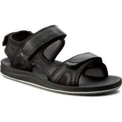 Sandały NEW BALANCE - M2080BK  Czarny. Czarne sandały męskie skórzane New Balance. W wyprzedaży za 169,00 zł.