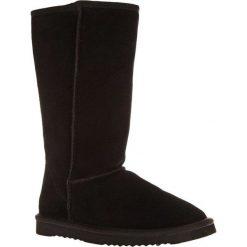 Skórzane kozaki w kolorze czarnym. Czarne buty zimowe damskie Carla Samuel. W wyprzedaży za 229,95 zł.