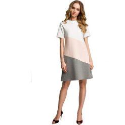 Sukienki: Sukienka mini 3 kolory – brzoskwiniowa