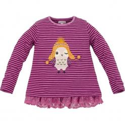 Koszulka w kolorze fioletowym. Fioletowe bluzki dziewczęce w paski Bondi, z koronki, z okrągłym kołnierzem, z długim rękawem. W wyprzedaży za 59,95 zł.