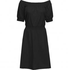 Sukienka shirtowa, krótki rękaw bonprix czarny. Sukienki małe czarne marki bonprix, z krótkim rękawem. Za 27,99 zł.