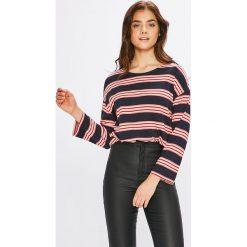 Pepe Jeans - Bluzka. Szare bluzki z odkrytymi ramionami Pepe Jeans, l, z bawełny, z okrągłym kołnierzem. W wyprzedaży za 129,90 zł.