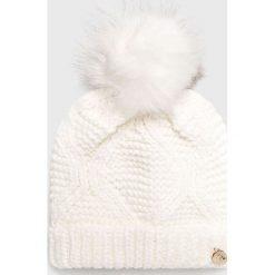 Guess Jeans - Czapka/kapelusz AW6801.WOL01. Szare czapki zimowe damskie Guess Jeans, z dzianiny. Za 169,90 zł.