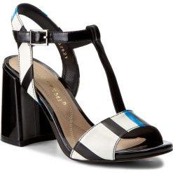 Rzymianki damskie: Sandały BRUNO PREMI – Vernice + Stripes K1606N Nero/Blu