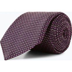BOSS - Krawat jedwabny męski, lila. Szare krawaty męskie Boss, z jedwabiu. Za 349,95 zł.