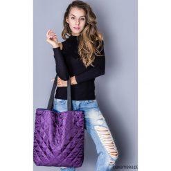 Torba basic fioletowe pikowanie. Fioletowe torebki klasyczne damskie marki Pakamera, pikowane. Za 89,00 zł.