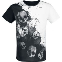 Outer Vision Dripping Skulls T-Shirt biały/czarny. Białe t-shirty męskie Outer Vision, xl. Za 121,90 zł.
