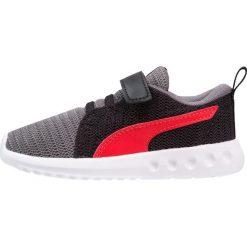 Puma CARSON 2  Obuwie do biegania treningowe quiet shade/flame scarlet. Szare buty sportowe chłopięce Puma, z materiału. Za 129,00 zł.