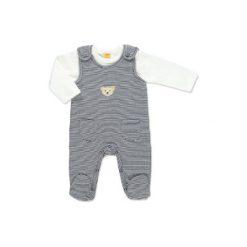 Steiff  Baby Śpioszki w paski marine - niebieski. Niebieskie pajacyki niemowlęce Steiff, z bawełny. Za 176,00 zł.