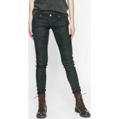 Diesel - Jeansy Gracey. Czarne jeansy damskie rurki Diesel, z bawełny, z obniżonym stanem. W wyprzedaży za 679,90 zł.