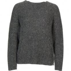 Sweter w kolorze szarym. Szare swetry klasyczne damskie Gottardi, s, prążkowane, z okrągłym kołnierzem. W wyprzedaży za 173,95 zł.