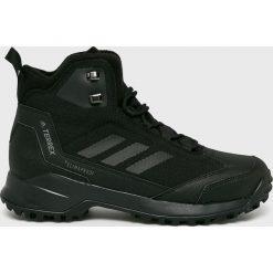 Adidas Performance - Buty Terrex Heron Mid. Czarne buty trekkingowe męskie adidas Performance, z materiału, na sznurówki, outdoorowe, primaloft. Za 599,90 zł.
