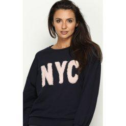 Bluzy damskie: Granatowa Bluza NoYoCo