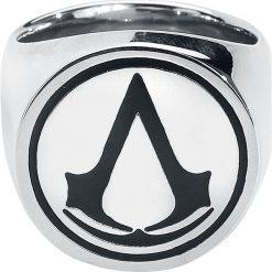 Assassin's Creed Logo Pierścień srebrny. Szare sygnety męskie srebrne. Za 121,90 zł.