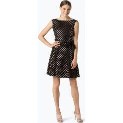 Ambiance - Sukienka damska, czarny. Czarne sukienki z falbanami Ambiance, w kropki, z dżerseju. Za 299,95 zł.