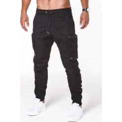 Spodnie męskie: SPODNIE MĘSKIE JOGGERY P706 – CZARNE