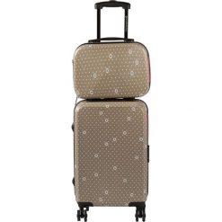 Kosmetyczki damskie: Zestaw w kolorze beżowym – walizka, kosmetyczka