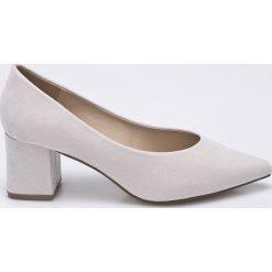Missguided - Czółenka. Szare buty ślubne damskie Missguided, z materiału, na obcasie. W wyprzedaży za 89,90 zł.